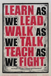 poster - learn as we lead, walk as we talk, teach as we fight
